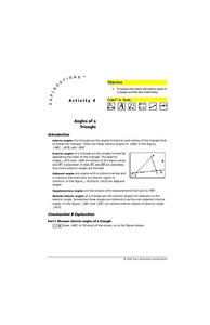 Angles of a Triangle Lesson Plan