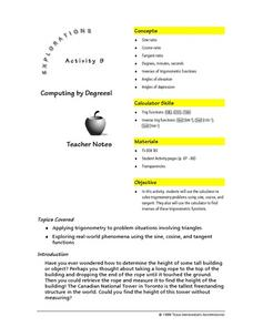 Computing by Degrees! Lesson Plan