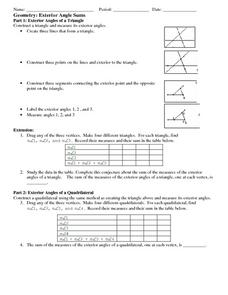 Exterior Angle Sums Lesson Plan