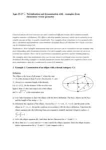 Trivialisation and dynamisation with examples from elementary vector geometry Lesson Plan