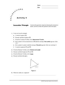 Isosceles Triangle Lesson Plan