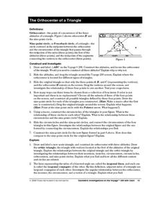 The Orthocenter of a Triangle Lesson Plan
