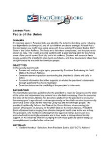 Facts of the Union Lesson Plan