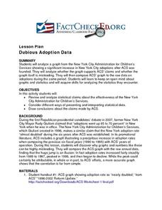 Dubious Adoption Data Lesson Plan