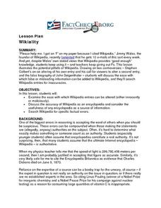 Wikiality Lesson Plan
