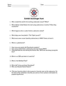 Exhibit Scavenger Hunt Lesson Plan