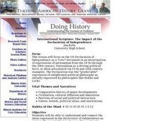 International Scripture: The Impact of the Declaration of Independence Lesson Plan