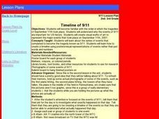 Timeline of 9/11 Lesson Plan
