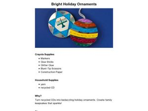 Bright Holiday Ornaments Lesson Plan
