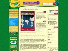 Cut-Out Continents Mobile Lesson Plan