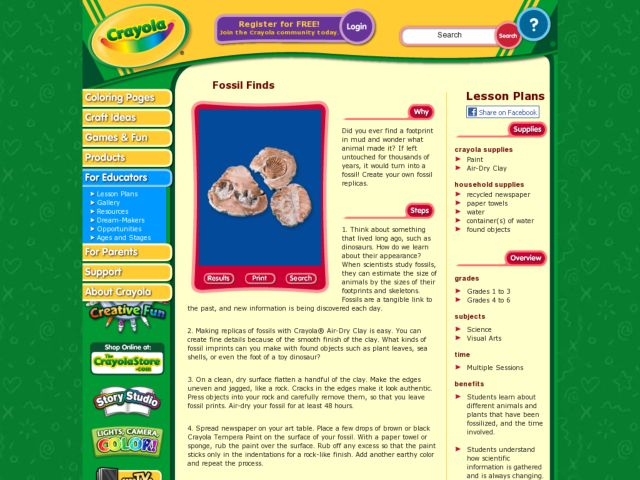 Fossil Finds Lesson Plan