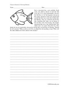 Character Education: Confessing Mistakes Worksheet