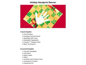 Holiday Handprint Banner Lesson Plan