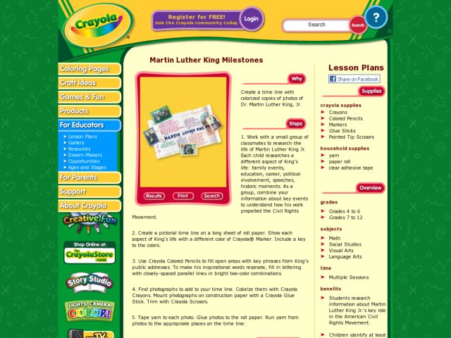 Martin Luther King Milestones Lesson Plan