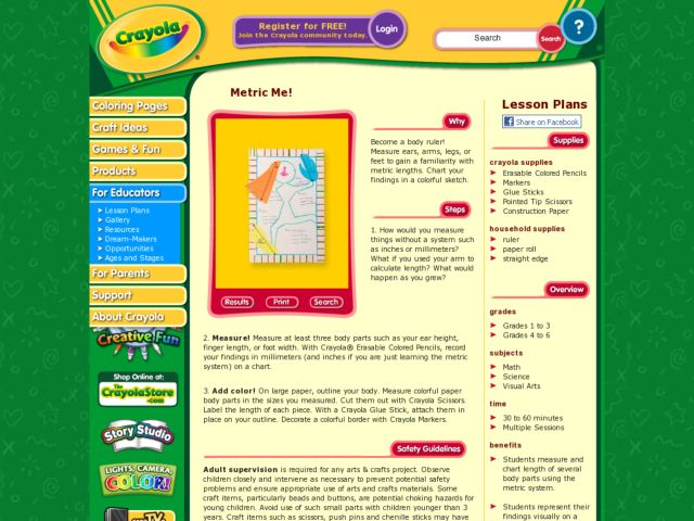 Metric Me! Lesson Plan for 1st - 6th Grade | Lesson Planet