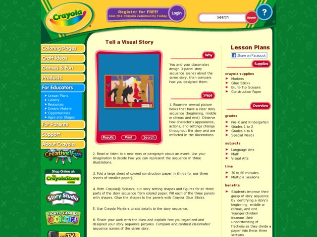 Tell A Visual Story Lesson Plan