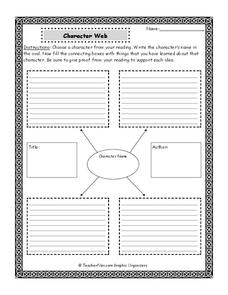 Character Web Printables & Template