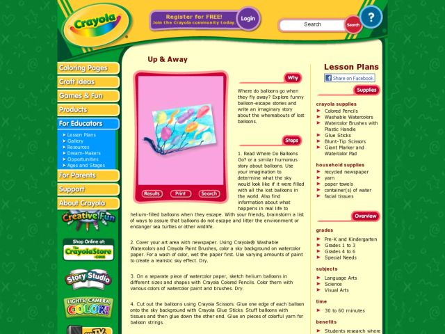Up & Away Lesson Plan