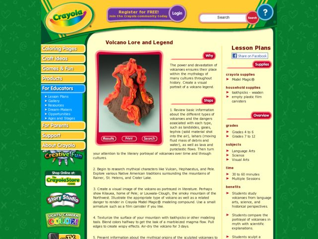 Volcano Lore and Legend Lesson Plan