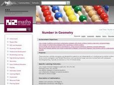 Number in Geometry Lesson Plan