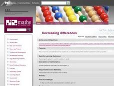 Decreasing Differences Lesson Plan