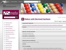 Wafers with Decimal fractions Lesson Plan
