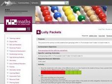 Lolly Packets Lesson Plan