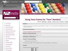 "Using Tens Frames for ""Teen"" Numbers Lesson Plan"