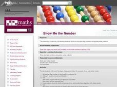 Show Me the Number Lesson Plan