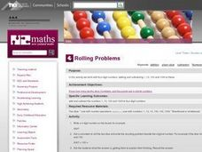 Rolling Problems Lesson Plan