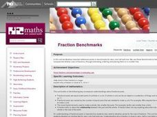 Fraction Benchmarks Lesson Plan