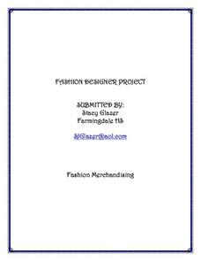Fashion Designer Project Lesson Plan