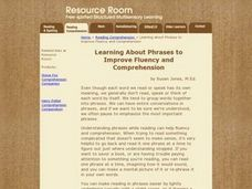 Learning About Phrases To Improve Fluency And Comprehension Lesson Plan