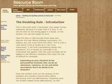 The Doubling Rule Lesson Plan