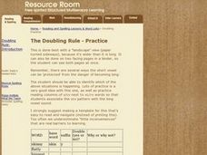 The Doubling Rule Practice Lesson Plan