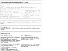 Investigation of Standard of Living Lesson Plan