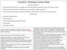 Creative Writing Lesson Plan Lesson Plan