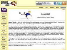 Benchball Lesson Plan
