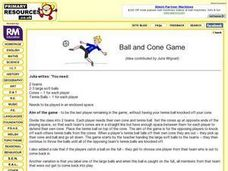 Ball and Cone Game Lesson Plan