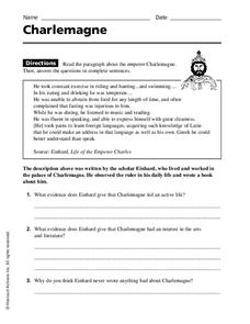 Charlemagne Worksheet