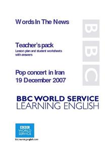 Pop Concert in Iran Lesson Plan
