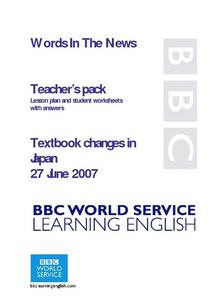 Textbook Changes in Japan Lesson Plan