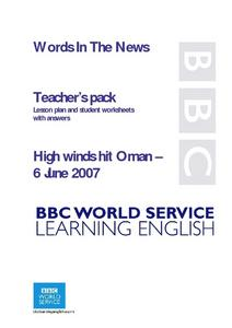 High winds hit Oman Lesson Plan