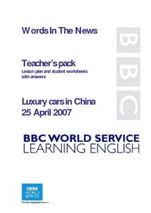 Words In The News:  Luxury Cars in China Lesson Plan