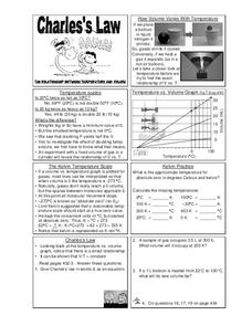 Charles's Law Worksheet