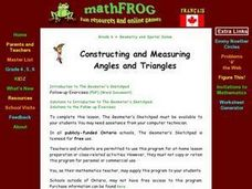 Constructing and Measuring Angles And Triangles Lesson Plan
