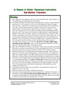 Old Mother Twitchett Lesson Plan