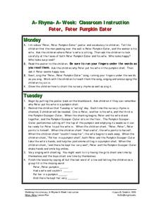 Peter, Peter Pumpkin Eater Lesson Plan