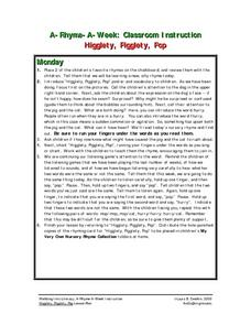 Higglety, Pigglety, Pop Lesson Plan