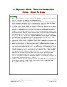Hiccup, Hiccup Go Away Lesson Plan